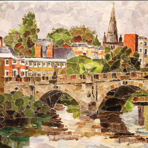 English Bridge, Shrewsbury Mini Print Framed