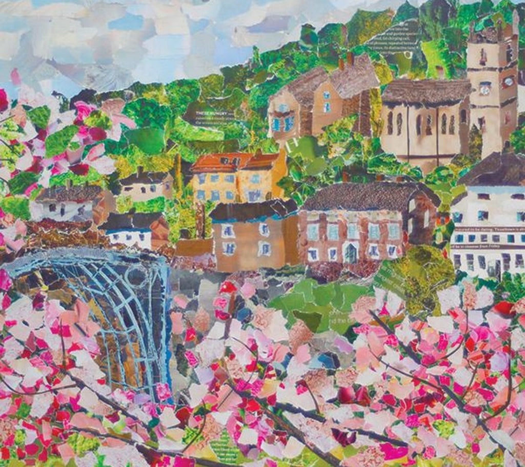 Ironbridge in Spring Mini Print Framed