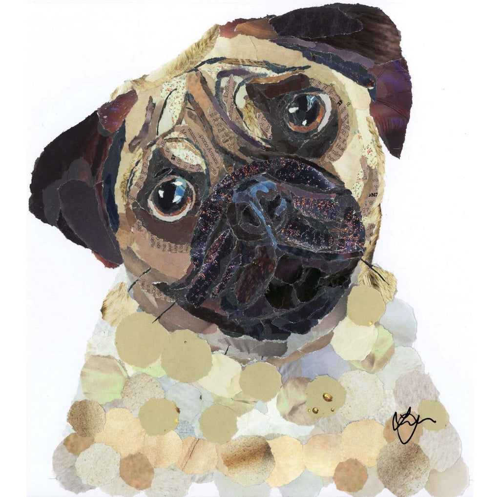 Pug Dog Mini Print Framed