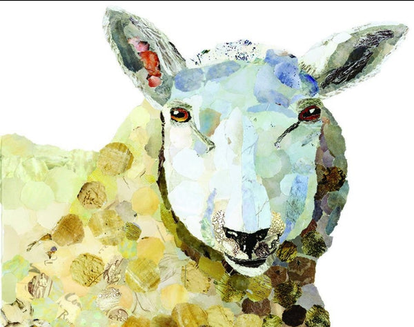 Sheep Mini Print Framed