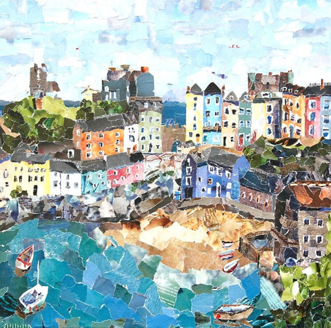 Tenby, Wales Mini Print Framed