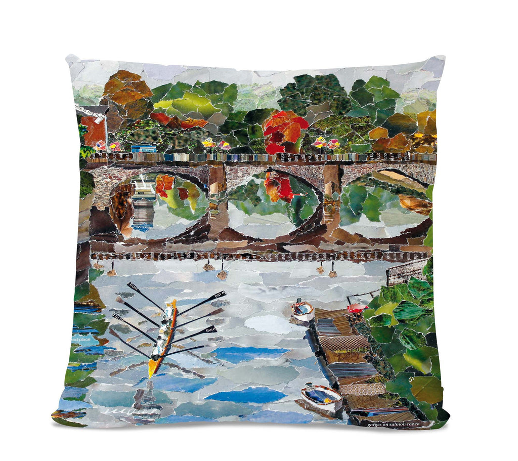 Welsh Bridge Faux Suede Cushion