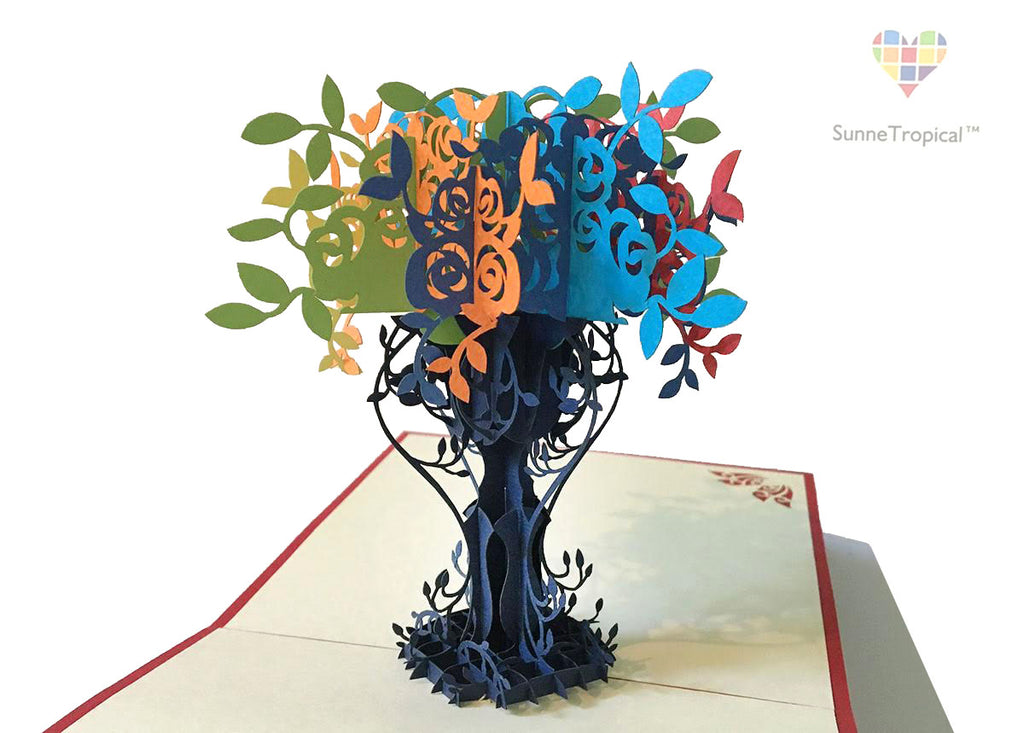 Pop up card Elegant VASE flower 5.80 inch (FL009-147147)
