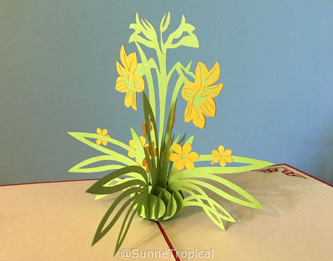 Pop up card LILY flower 4.75 inch (FL020-1212)
