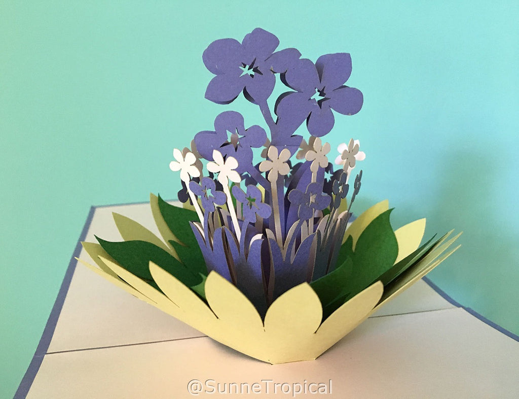 Pop up card Flowers LAPIS 5.90 inch (FL045-1515)