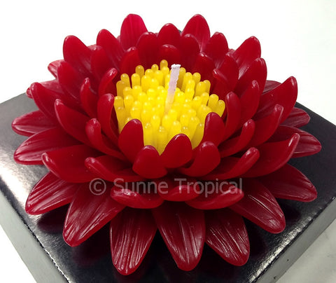 Flower Candles 5 Inch - Gerbera (Red)