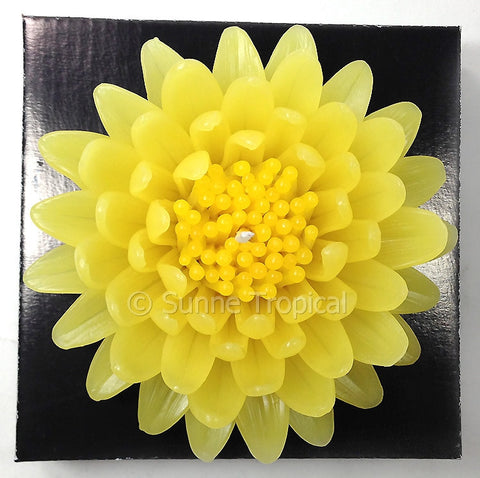 Flower Candles 5 Inch - Gerbera (Yellow)