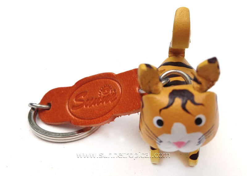 Yellow Cat 3D Leather Key Chain