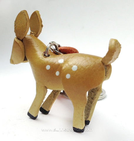 Bambi Little Deer 3D Leather Key Chain
