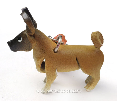 Akita Dog 3D Leather Key Chain