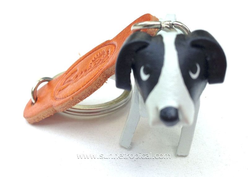 American Dog 3D Leather Key Chain (Black Spot)