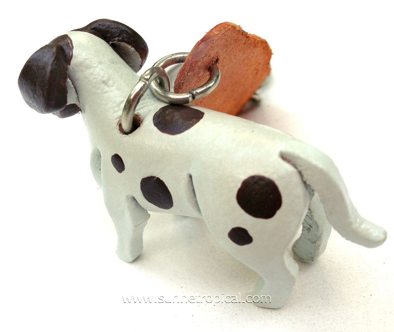 American Dog 3D Leather Key Chain (Brown Spot)