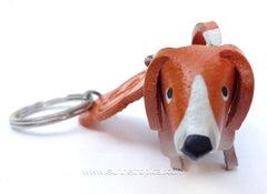 Beagle Dog 3D Leather Key Chain