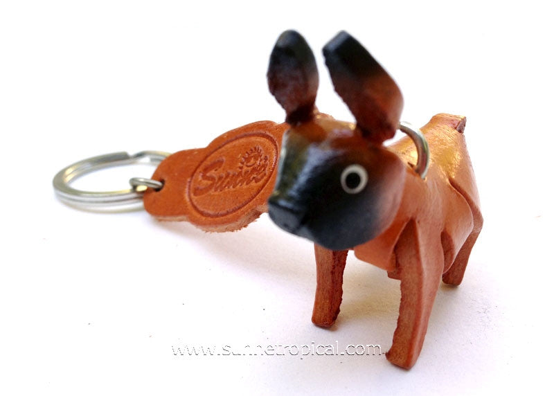 Boxer Dog 3D Leather Key Chain