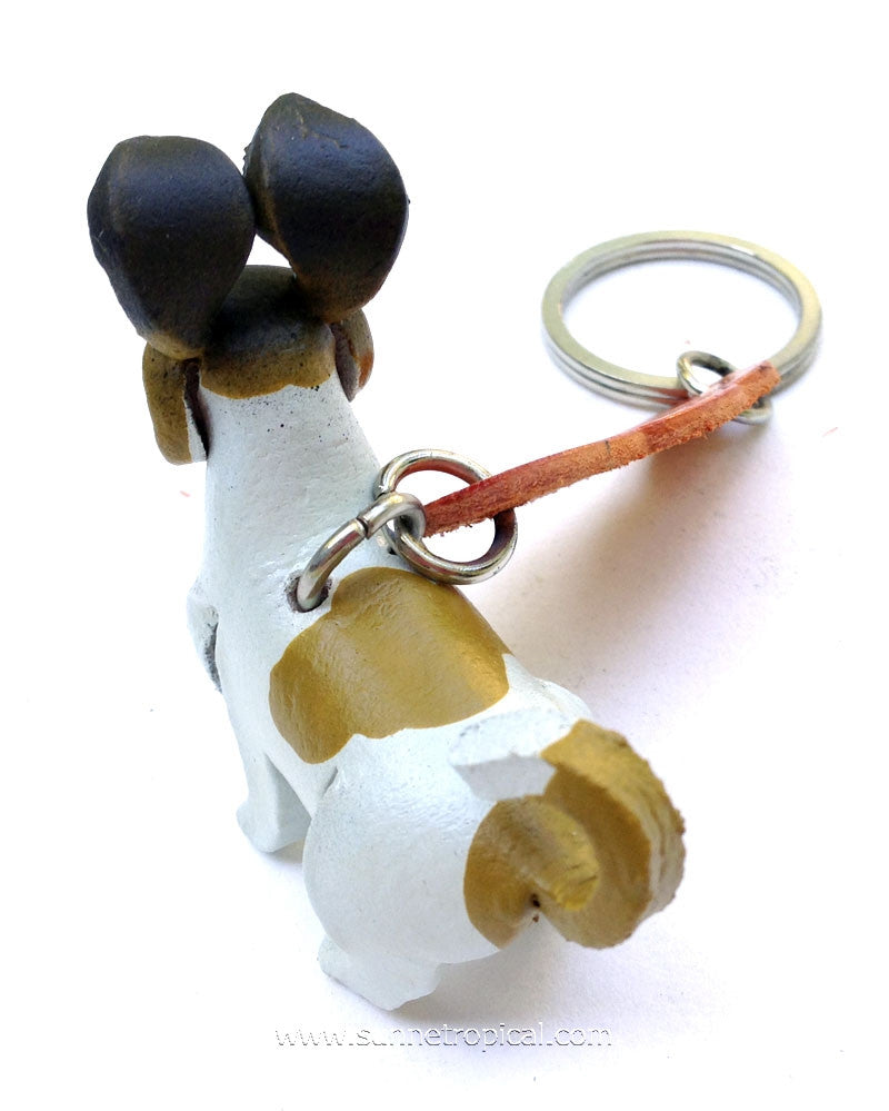 Smooth Fox Terrier Dog 3D Leather Key Chain