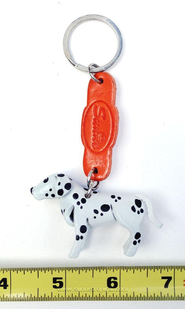 Dalmatian Dog 3D Leather Key Chain