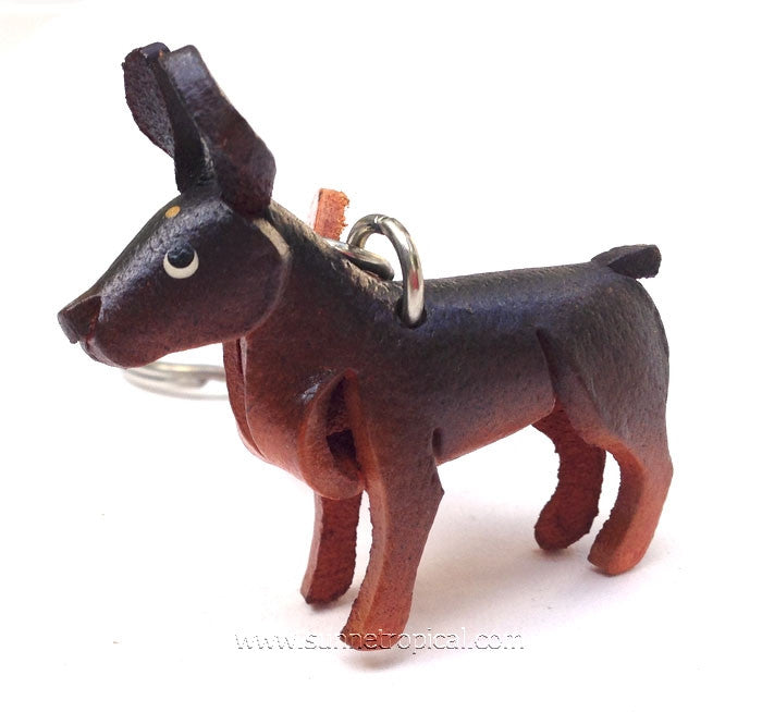Doberman Pinscher Dog 3D Leather Key Chain