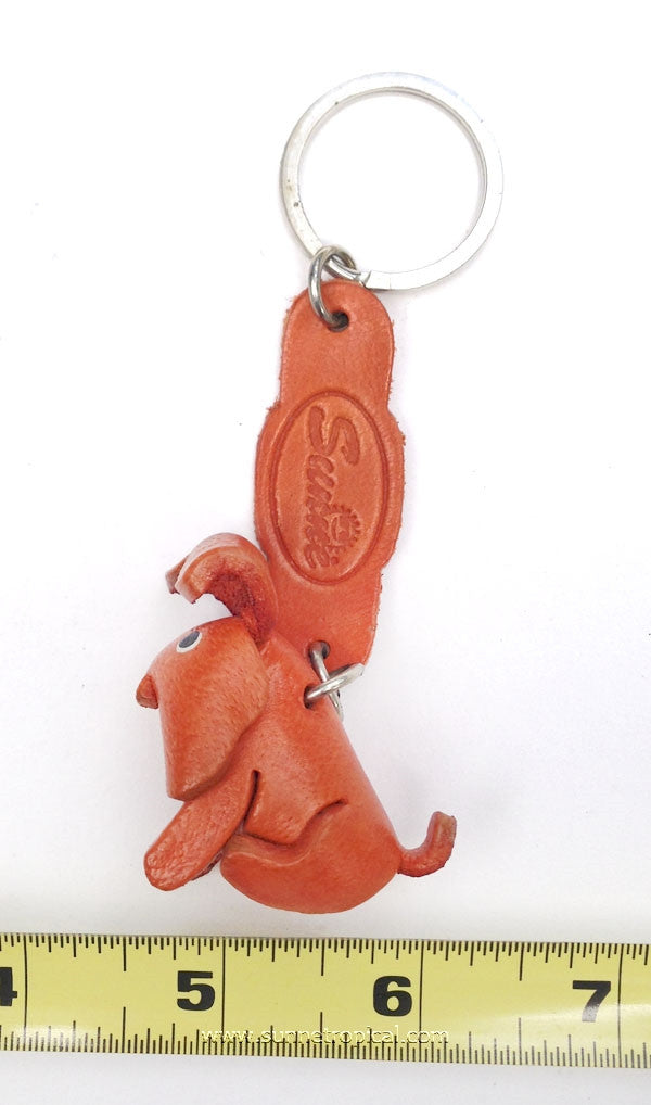 Doggie Dog 3D Leather Key Chain (Brown)