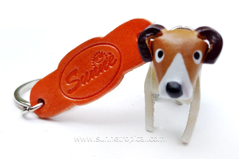 Jack Russell Dog 3D Leather Key Chain (Puppie)