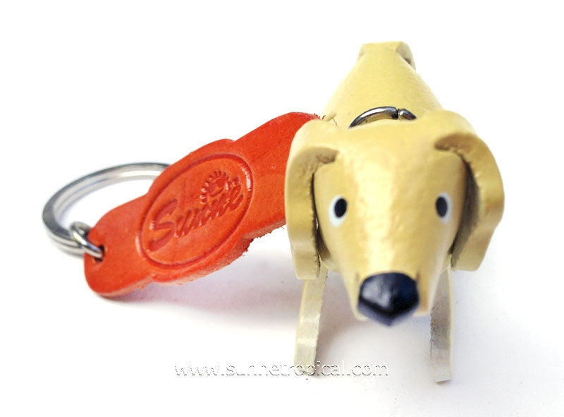 Golden Retriever Dog 3D Leather Key Chain