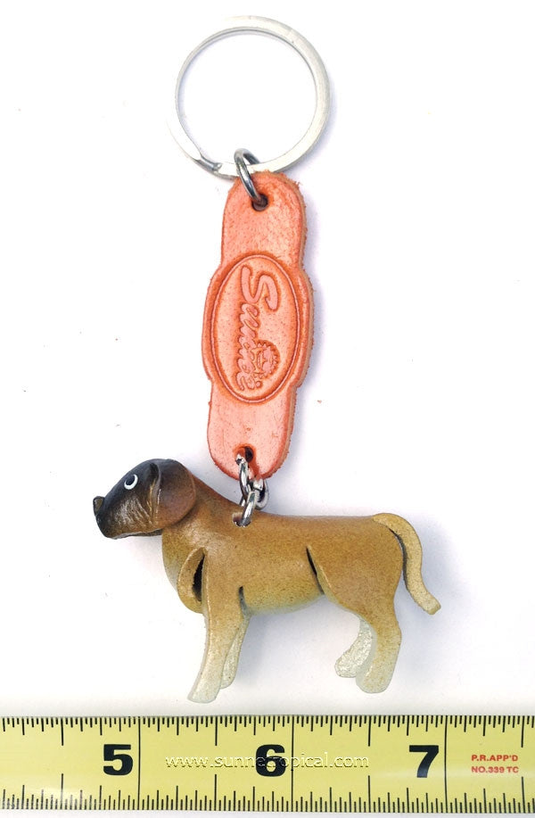 Great Dane Dog 3D Leather Key Chain