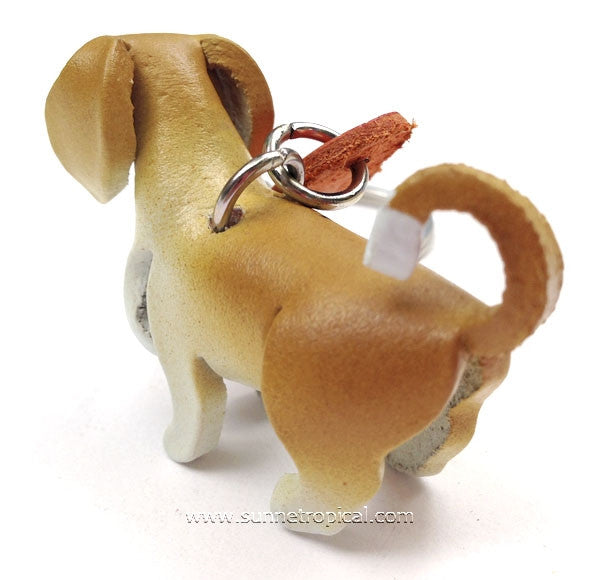 Puppy Dog 3D Leather Key Chain (Brown)