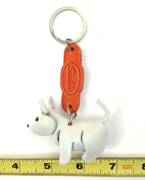 West Highland White Terrier Dog 3D Leather Key Chain