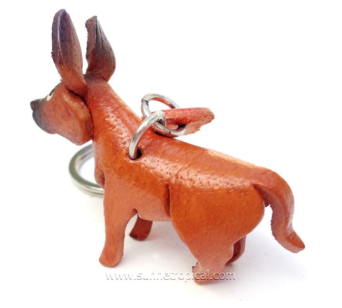 Rhodesian Ridgeback Dog 3D Leather Key Chain