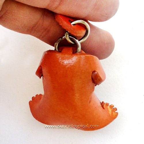 Pug Dog 3D Leather Key Chain
