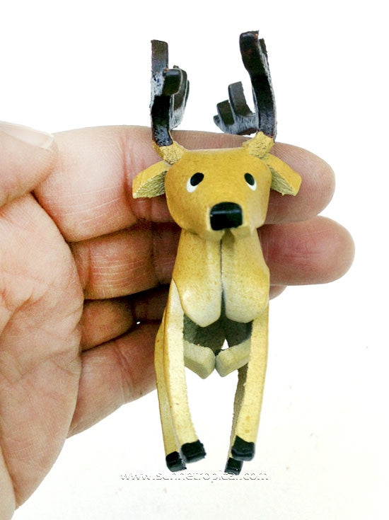 ELK Deer 3D Leather Key Chain