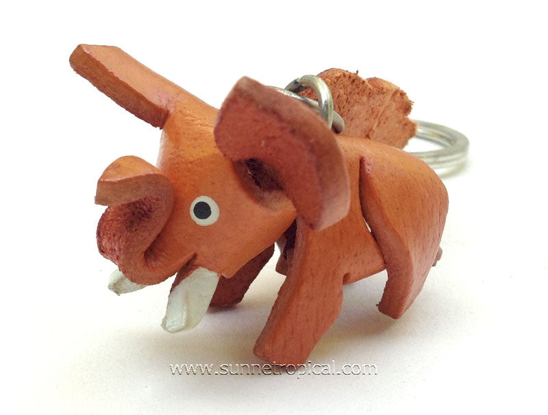 Elephant 3D Leather Key Chain (05)