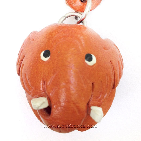 Elephant 3D Leather Key Chain (06)