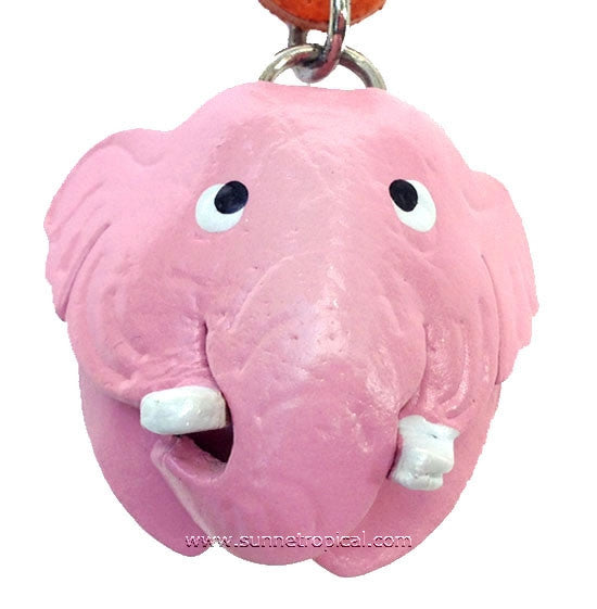 Elephant 3D Leather Key Chain (06 Pink)