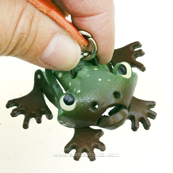 Frog 3D Leather Key Chain