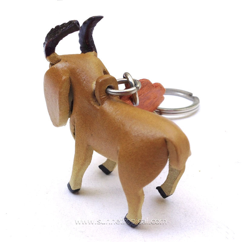 Goat 3D Leather Key Chain
