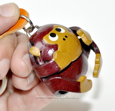 Funny Monkey 3D Leather Key Chain