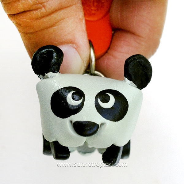 Panda Bear 3D Leather Key Chain