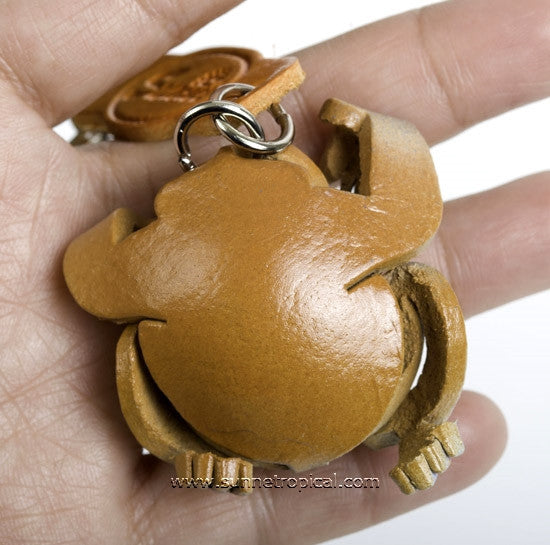 Proboscis monkey 3D Leather Key Chain