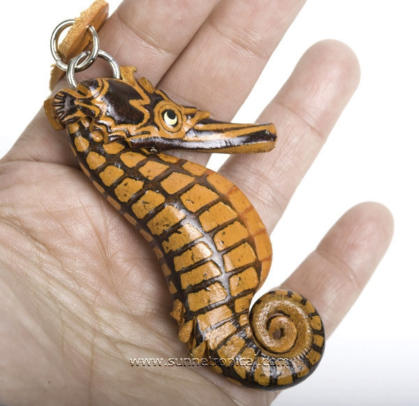 Seahorse 3D Leather Key Chain