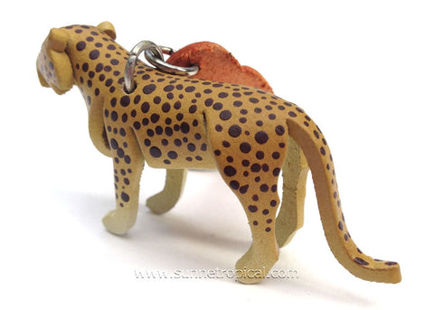 Leopard, Tiger Cat, Wild Cat 3D Leather Key Chain