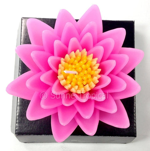 Flower Candles 5 Inch - Water Lily Lotus (Pink)
