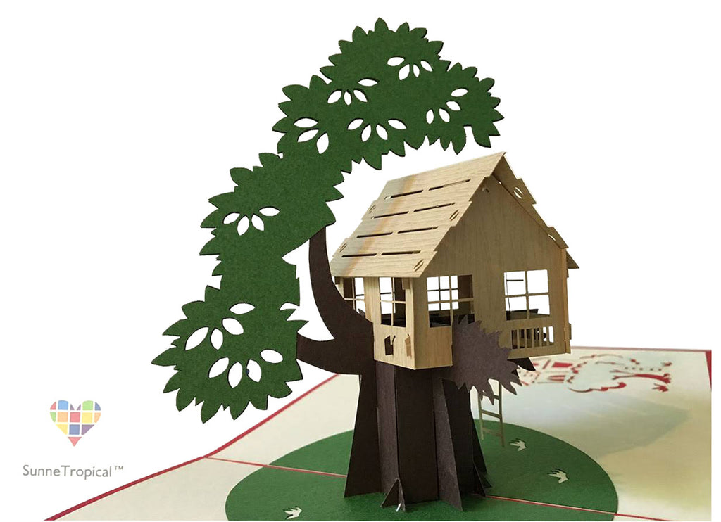 Pop up card TREEHOUSE 5.90 inch (OC029-1515)