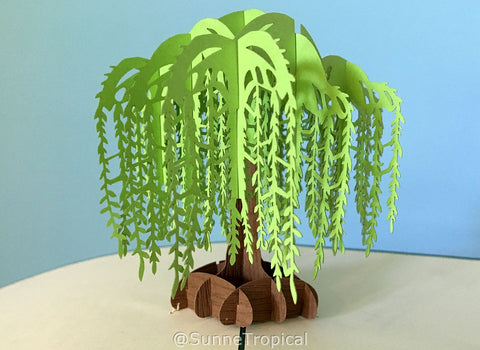 Pop up card WILLOW TREE 5.90 inch (OC084-1515)