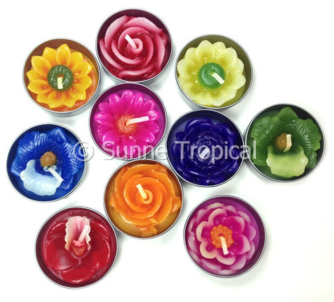 Surprise Pack Flowers Tealight Candles (Multi-Color)