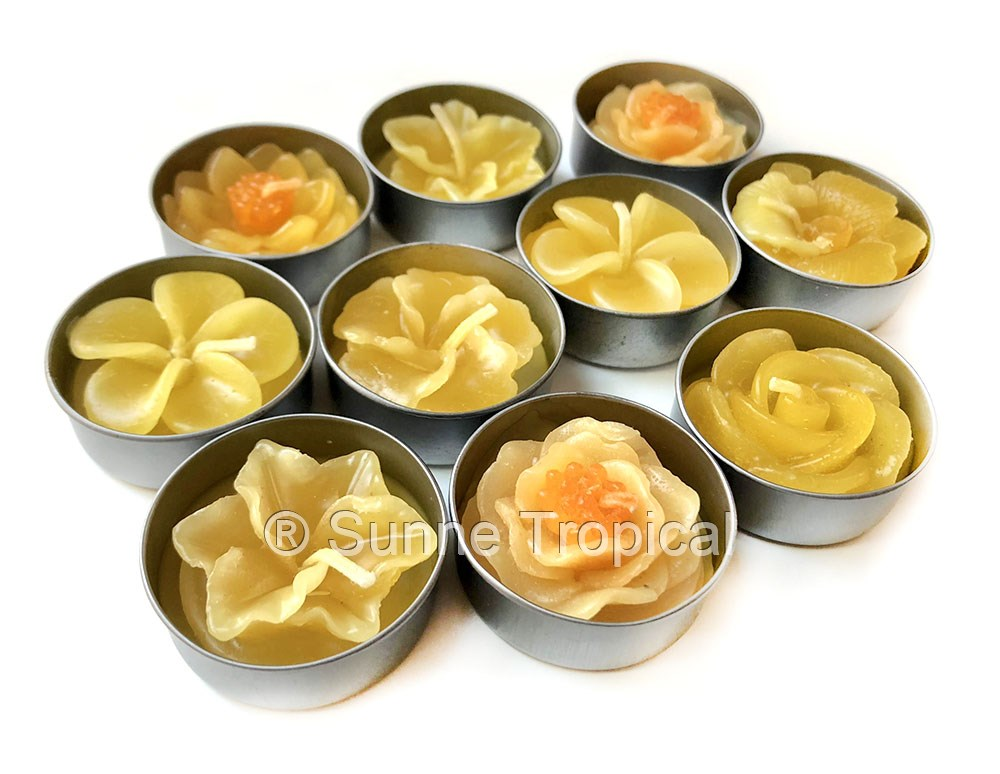 Surprise Pack Flowers Tealight Candles (Yellow)