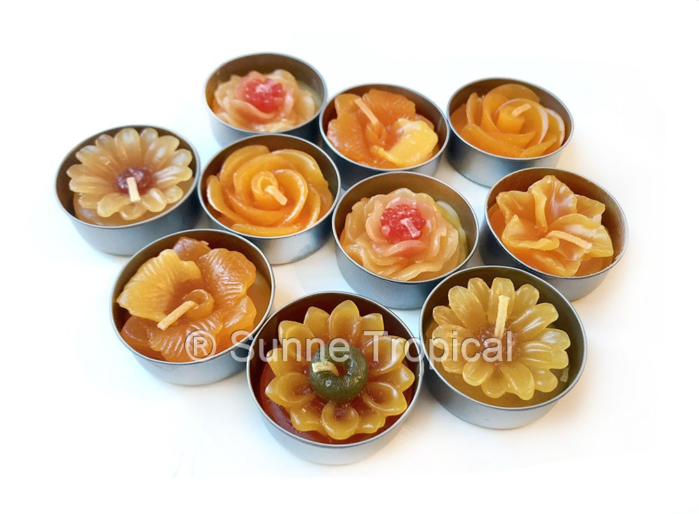 Surprise Pack Flowers Tealight Candles (Orange)