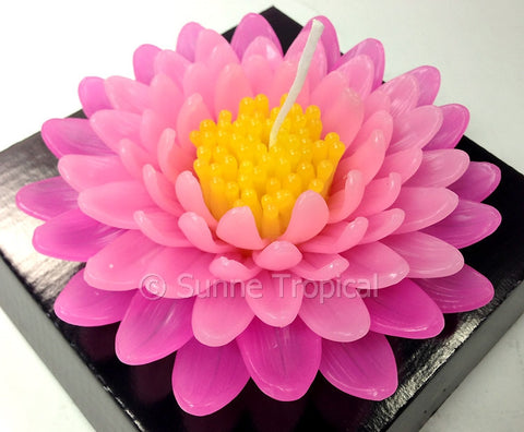 Flower Candles 5 Inch - Chrysanthemums MUM (Light Pink)