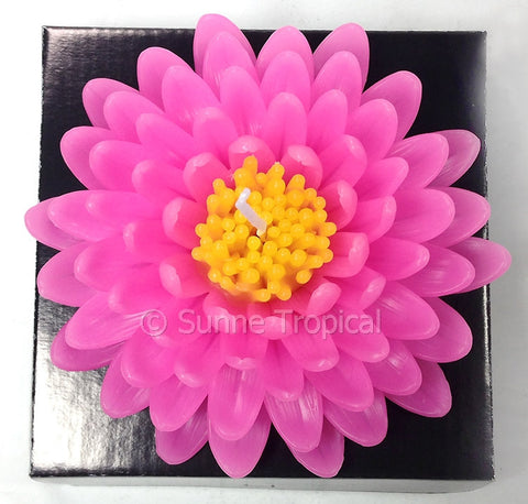 Flower Candles 5 Inch - Chrysanthemums MUM (Pink)