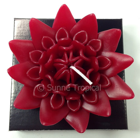 Flower Candles 5 Inch - Torch Ginger (Red)