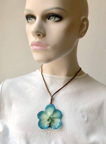 Real Flower Jewelry VANDA orchid - BLUE